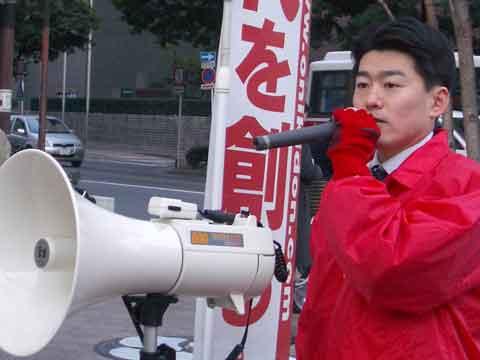 県議会議員時代街頭演説の様子