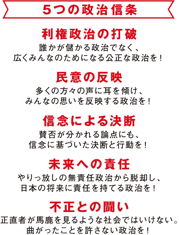 5つの政治信条