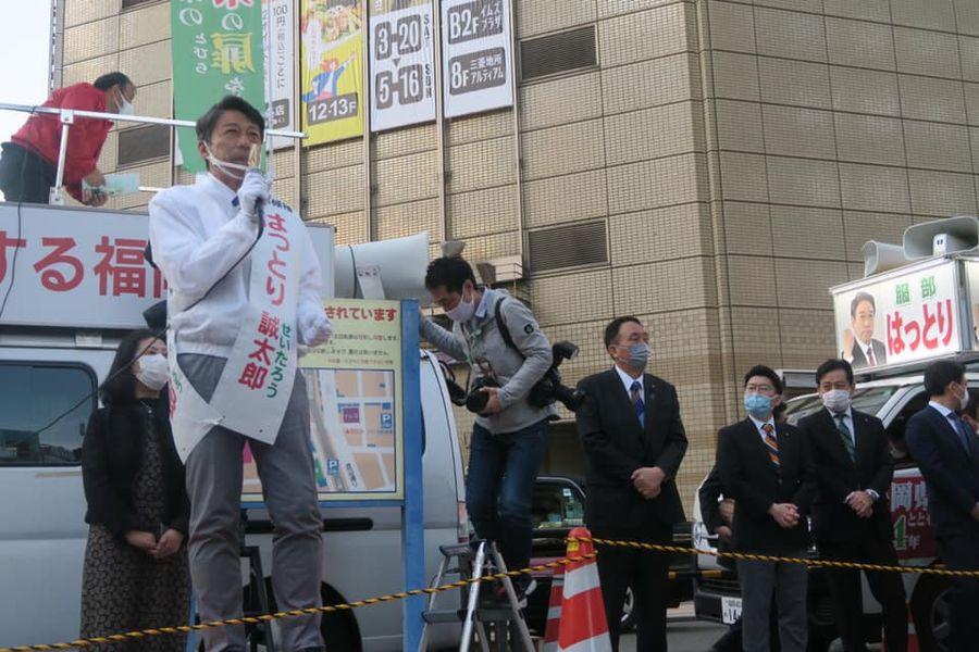 福岡県知事選 最終日