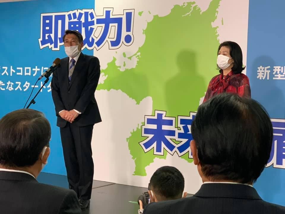 福岡県知事選 当選 服部誠太郎さん